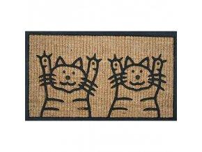 rohožka kočky hands up