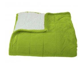 Deka mikrovlákno ovečka Sandra zelená 150x200cm