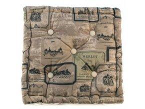 matracový sedák hnědý