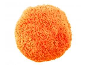 polštář chlupatý oranžový1