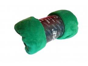 Deka mikroflanel zelená 150x200 cm