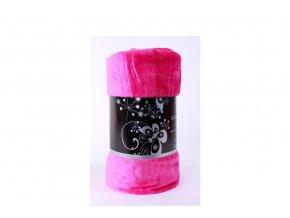 deka mikroflanel růžová
