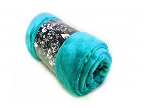 deka mikroflanel modrá