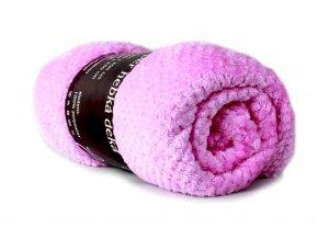 deka žakárová růžovofialová