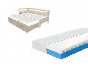 matrace do rozkládací postele 3 díly lena