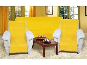 přehoz na sedací soupravu žlutý