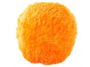 polštář chlupatý puf žlutý