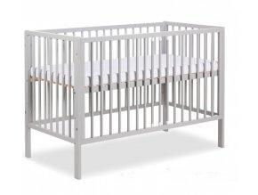 dětská postýlka radek x šedá akce matrace zdarma