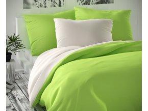 povlečení kvalitex luxury bavlněný satén světle zelené bílé