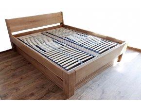 masivní postel radka dub 4 cm