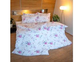 ložní povlečení bavlna provence mia růžová květinové