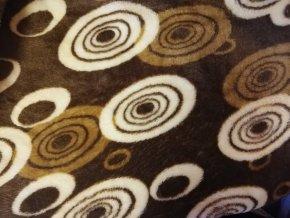 deka mikrovlákno klubíčka tmavě hnědé
