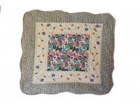 polštářek provence květovaný tyrkysový