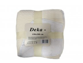 deka pletený vzor vanilková