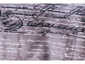 deka mikrovlákno postcard šedá
