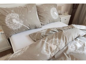 povlečení bavlna pampelišky béžové
