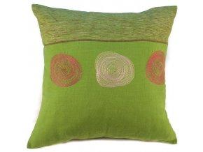 Povlak na polštář spirály zelený 40x40 cm