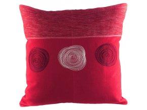 Povlak na polštář spirály červený 50x50 cm