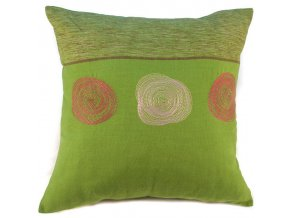 Povlak na polštář spirály zelený 50x50 cm
