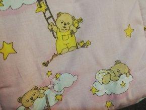 dětská souprava medvídek růžová