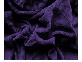prostěradlo mikroplyš tmavě fialová