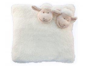 Polštářek ovečka bílý 35x35cm