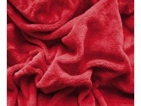 deka mikroplyš červená
