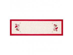 štola vánoční ubrus punčocha červené 40x140cm