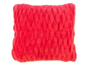 povlak na polštář chlupatý červený