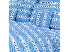 povlečení bavlna barunka modrá