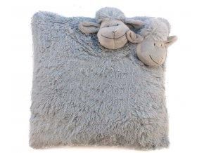 ovčeka polštář šedý