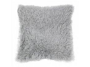 povlak na polštář dlouhý vlas světle šedý
