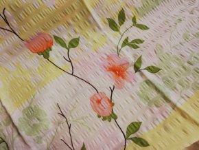 povlečení krep karoline zelené růže