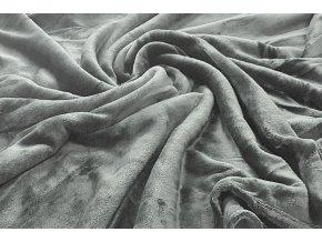 deka mikroflanel šedá