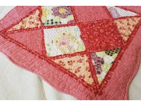 povlak na polštář provence patchwork červený