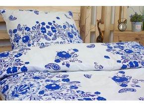 povlečení bavlna cibulák modrý karoline