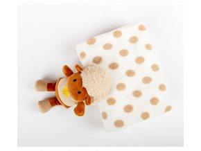 dětká deka ovečka s puntíkem
