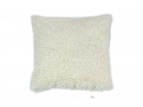 povlak na polštář dlouhý vlas smetanová