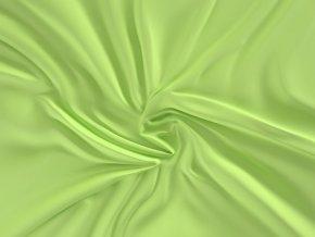 prostěradlo saténové světle zelené