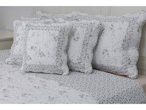 povlak provence 50x70cm bílo šedý