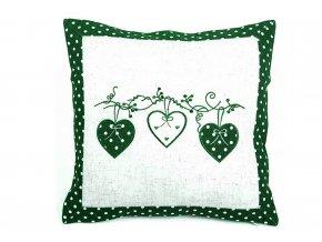 povlak na polštřá srdce zelený