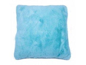 povlak na polštář catrin kožešinový tyrkysový