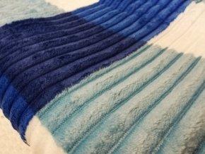 Deka mikrovlákno čtverce modrá 200x230 cm