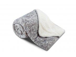 deka ovečka sleep well šedý melír