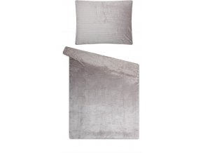 povlečení mikoflanel sleep well jednobarevné šedé manžestr