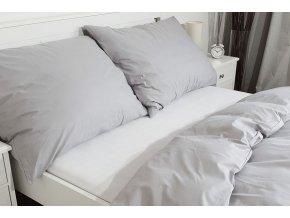 povlak na polštář bavlna světle šedý