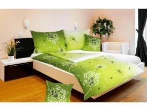 Povlak na polštář bavlna pampeliška zelená 70x90 cm