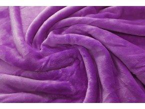 deka mikroflanel fialová