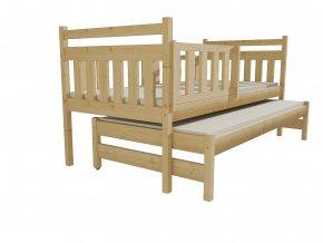 Dětská postel s výsuvnou přistýlkou DPV 004