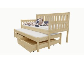 Dětská postel s výsuvnou přistýlkou M 006